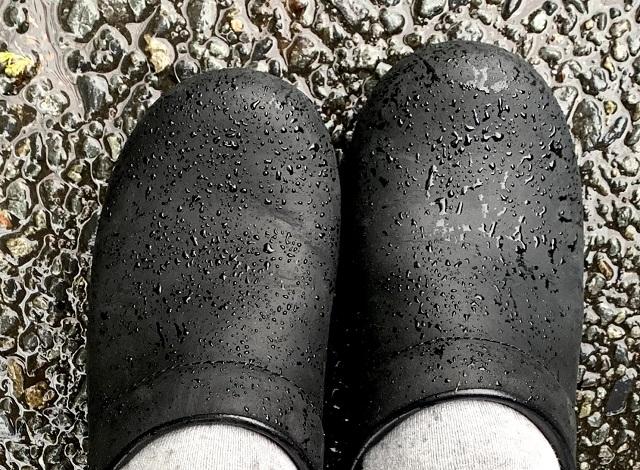 オイルレザー 雨天