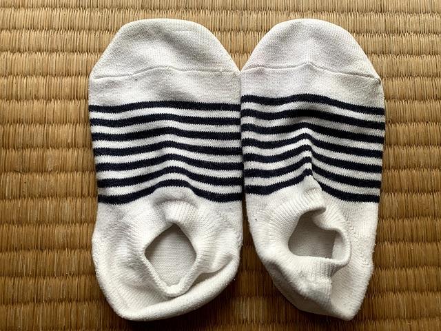 きれいになった靴下