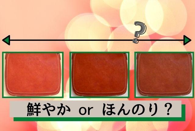 土屋鞄の限定色オレンジは個体差が大きめ。茶に近い物もある